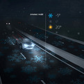 Smart-highway-communicates-driving-conditions-s
