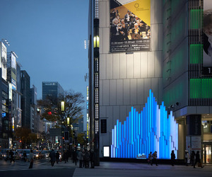Sony Building Crystal Aqua Trees by Torafu architects