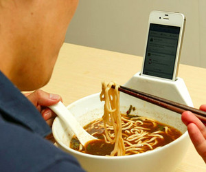 Soup Bowl &amp; iPhone Holder by MisoSoupDesign