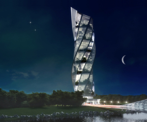 Spear Tower Hotel by Vuk Djordjevic and Milica Stankovic