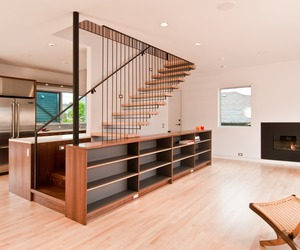 Steel &amp; Wood Stair by BUILD LLC