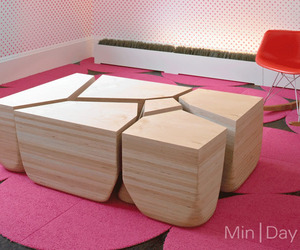 Stones,  Modular Table by Min | Day