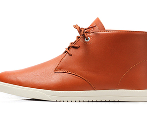 Strayhorn Mid-top Caramel leather sneaker | by Clae
