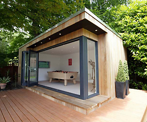 Luxury garden sheds nomis for Garden shed 2 rooms