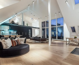 Stylish Attic Penthouse in Stockholm