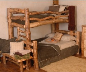 Summit Peak Log Bunk Bed