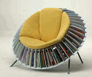 Sunflower Chair with Smart Integrated Bookcase