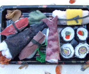 Sushi Sculpted Out Of Dryer Lint!