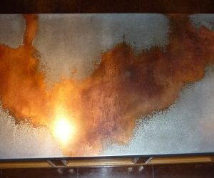 Table-top-counter-top-galvanized-copper-drip-technique-m