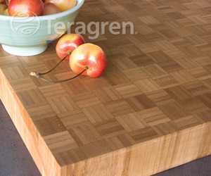 Bamboo Parquet Butcher Block Worktop | Teragren 