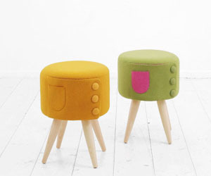 The-dressed-up-stool-and-cham-bench-by-kamkam-m