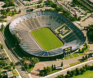 The Football Stadium Of Michigan