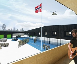 The new Norwegian military base by A-lab