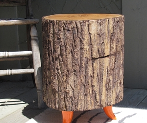 Tree Trunk Tables by Nickadoo