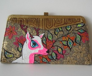 Two in One Deer - Vintage Handpainted Purse