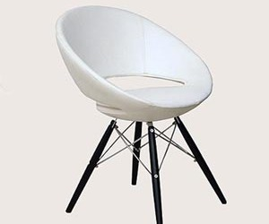 Unique Dining Chair with a Comfortable Upholstered Seat