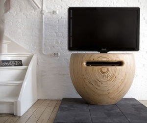 Unique Vase-Shaped TV Stand by Léon van Zanten