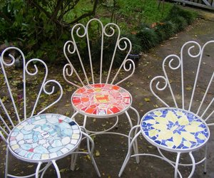 Upcycled Chairs with Mosaic Seats | Marylou Newdigate