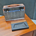 Vintage-8-transistor-ge-portable-chrome-radio-s