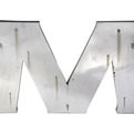 Vintage-salvaged-24-stainless-steel-avalon-cinema-letter-s