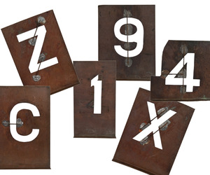 Vintage Solid Copper Number & Letter Stencils at Relique.com