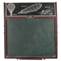 Vintage-w-j-baker-chalkboard-drawing-easel-set-at-relique-s