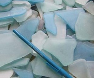 VitroHue Recycled Tumbled Glass from Bedrock Industries