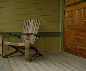 Whiskey Barrel Adirondack Chair