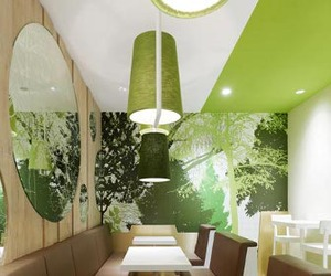 Wienerwald restaurant in gets forest-inspired interiors
