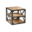 Wood-and-metal-end-table-s