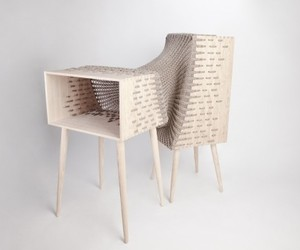 Wood And Textile Integrated Furniture By Kata Monus