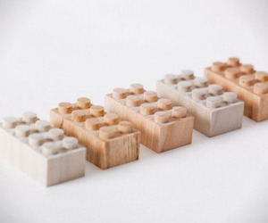 Wooden LEGOs by Mokurokku
