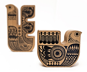 Wooden Soul Birds by Sanna Annukka