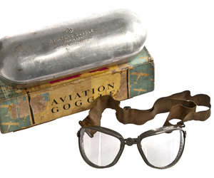 Wwii-ao-air-way-aviation-goggles-in-original-box-m