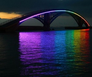Xiying Rainbow Bridge in Taiwan