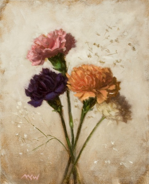 Carnations With Baby's Breath