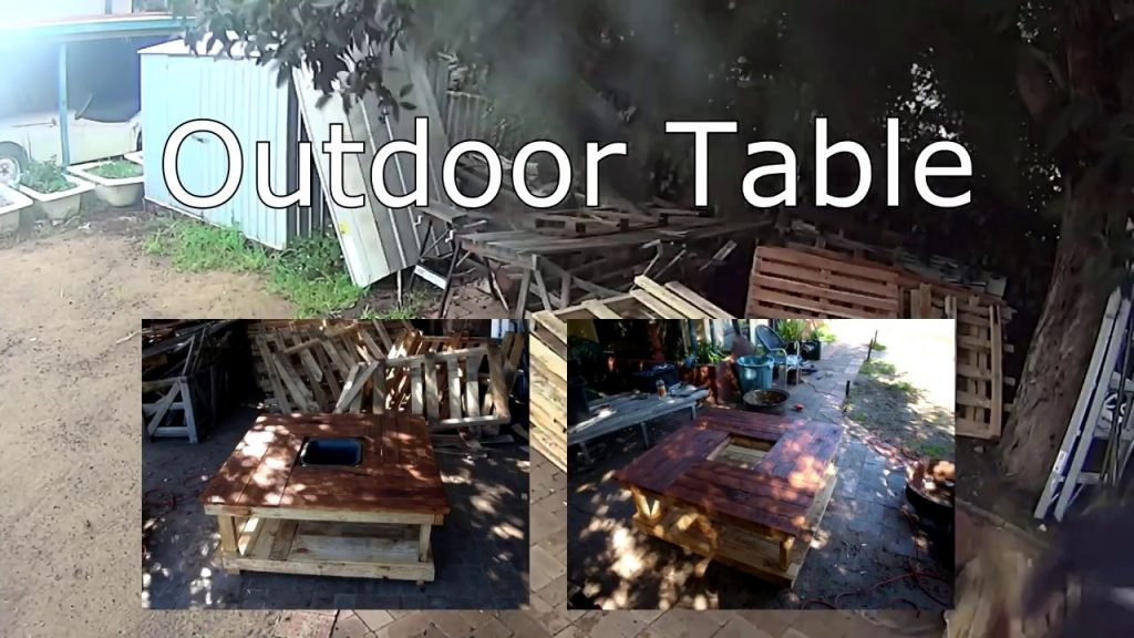 Wood Pallet Furniture – Outdoor Table