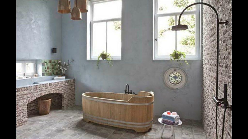 50 Rustic Bathroom Wood Design Furniture Ideas 2017 – Amazing Bathroom Log Decoration Part.4