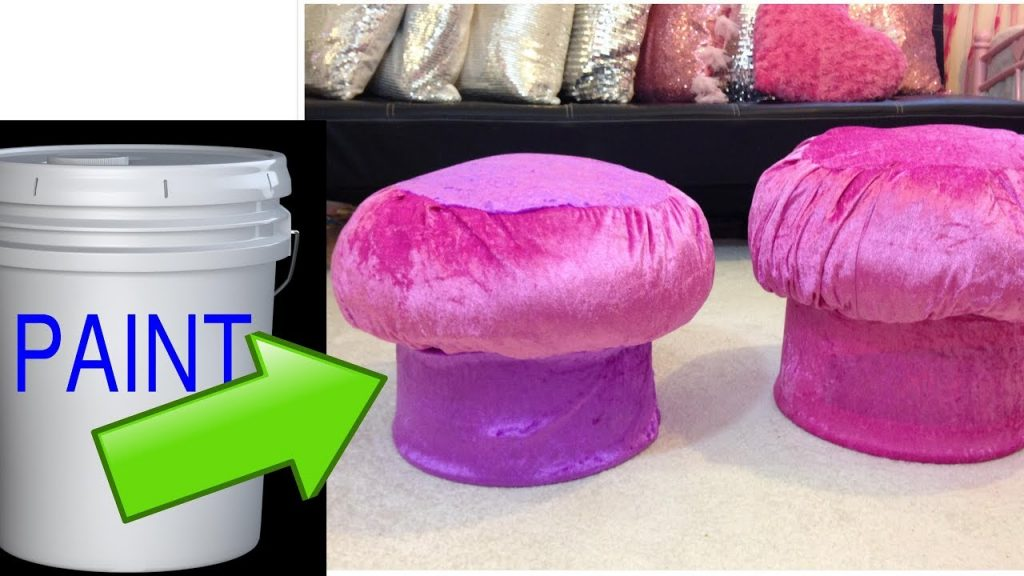 Creative way to recycle.Make an ottoman by using recycled materials.