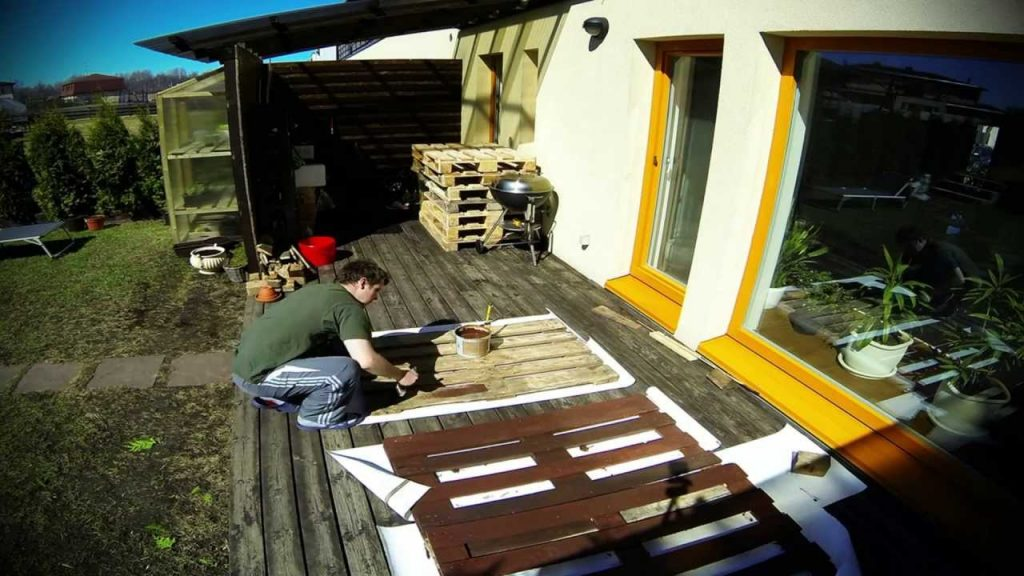 How to make garden furniture from pallets
