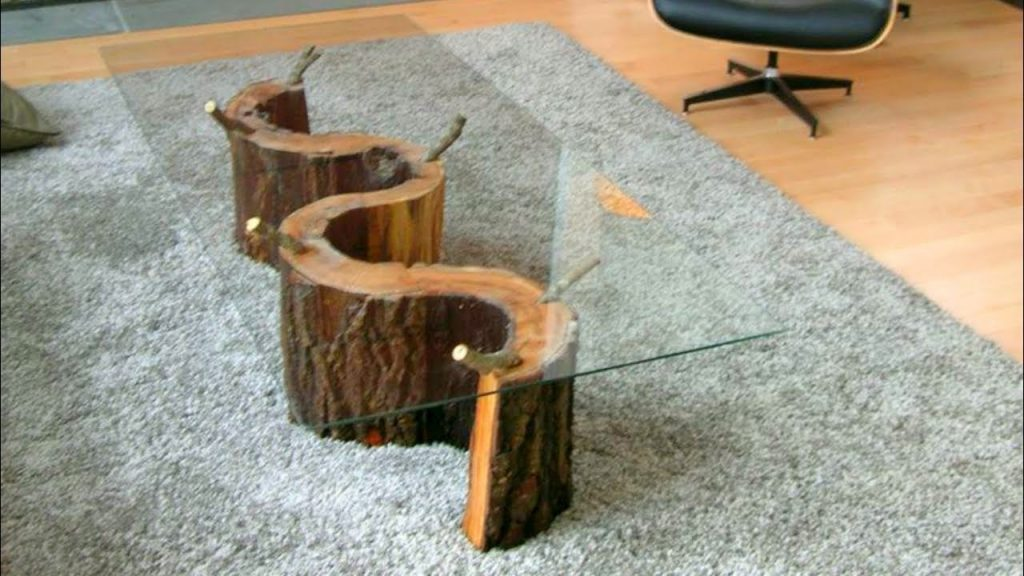 89 Coffe Table DIY Design Ideas 2017 – Pallet Trunk Log Stone Creative Ideas #1