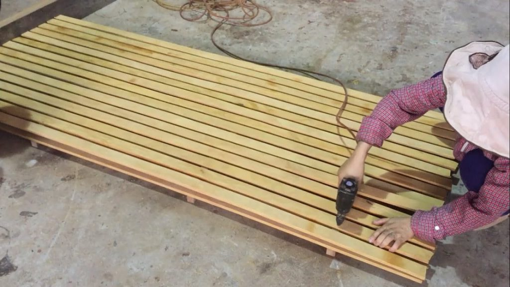 Amazing Woodworking Skills Female Carpenter – Projects Build Pallet Bed Frame The Fastest