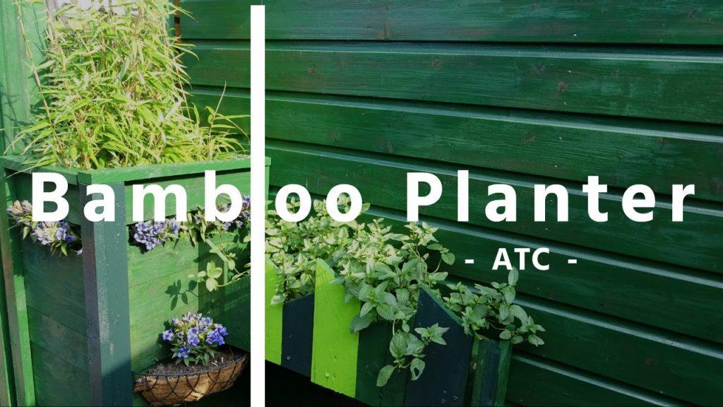 How to make a long bamboo planter – DIY