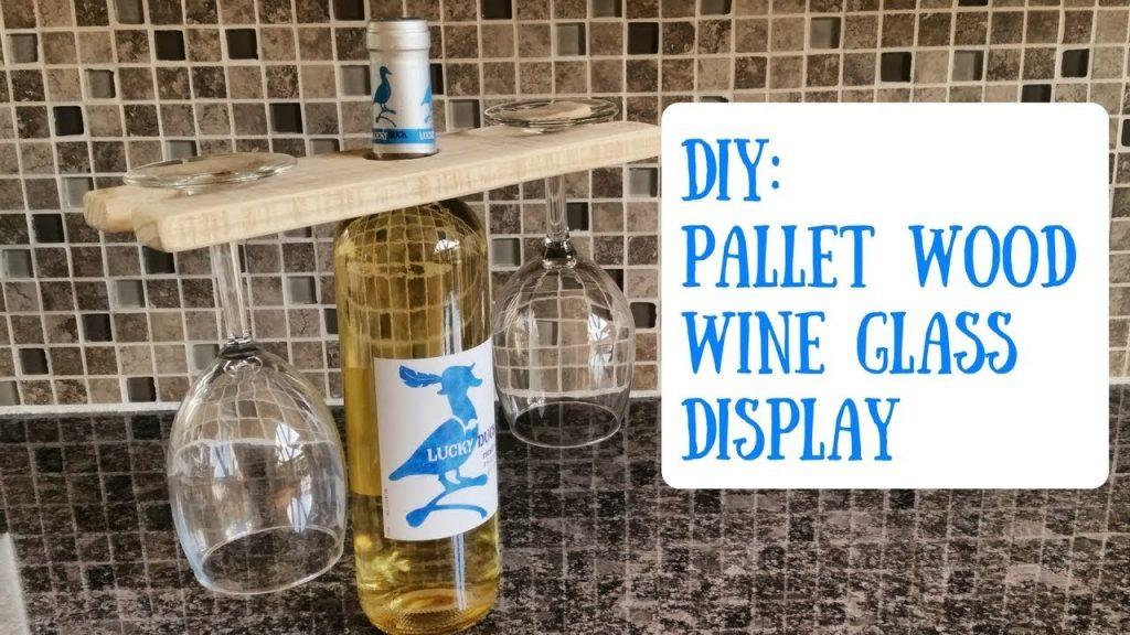 Easy to Make Pallet Wood Wine Glass Holder