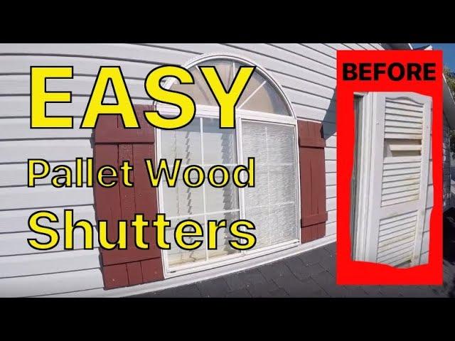 EASY Pallet Wood Shutters DIY – replace original plastic broken shutters