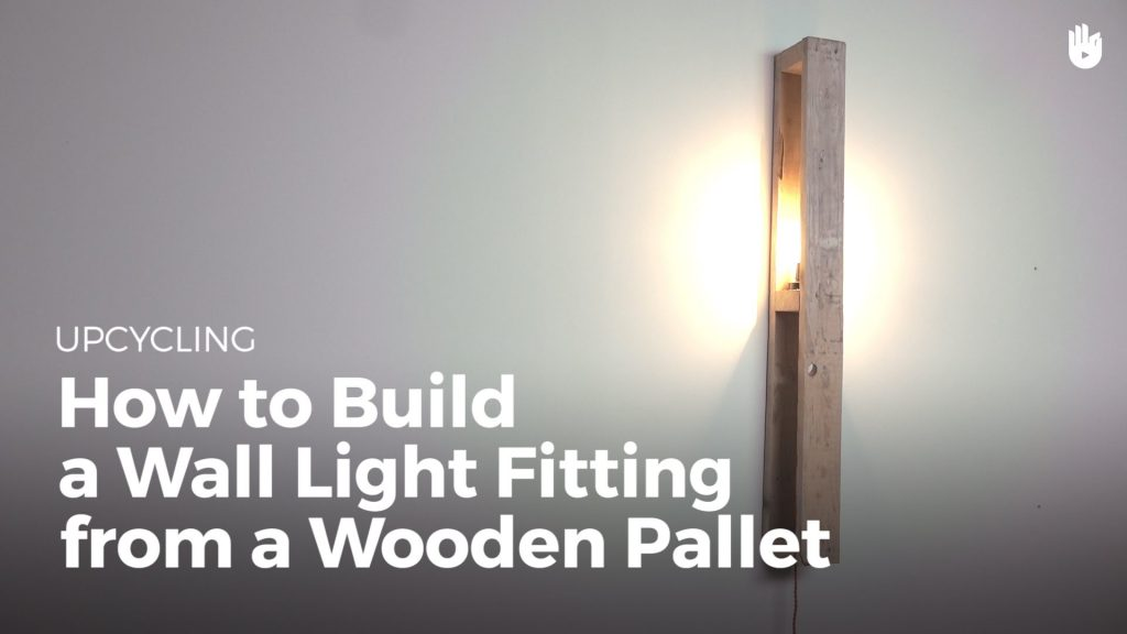 Make a Shelf with a Light from Wooden Pallets | Upcycling