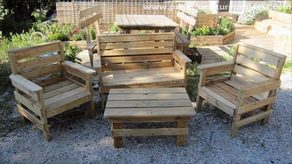 Elegant pallet patio furniture design