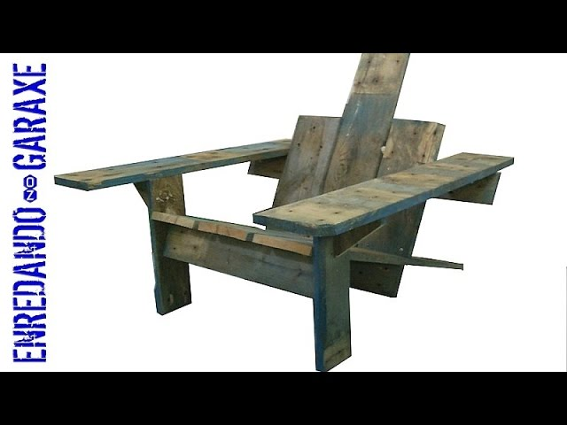 How to make an Adirondack pallet chair