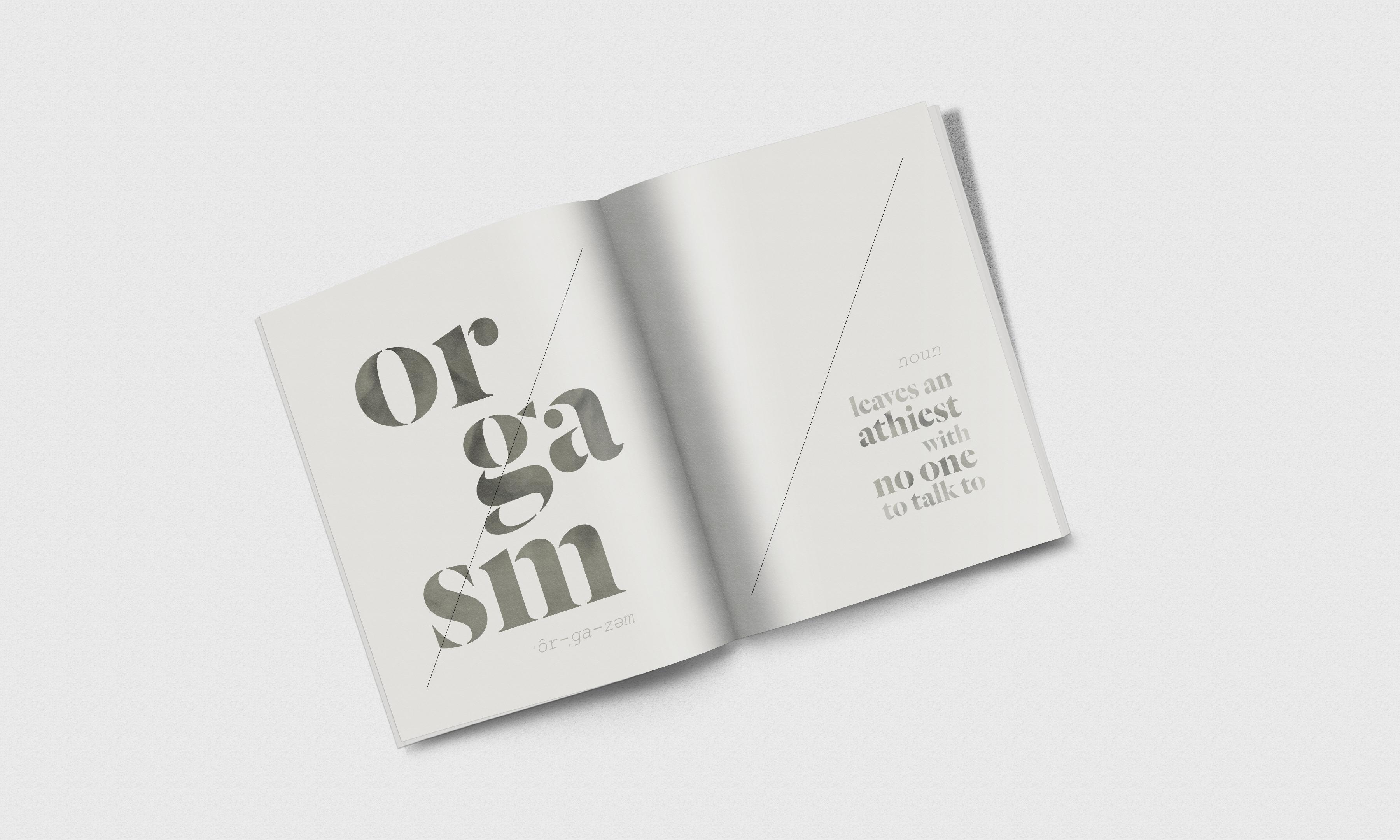 Photorealistic magazine mockup orgasm noun
