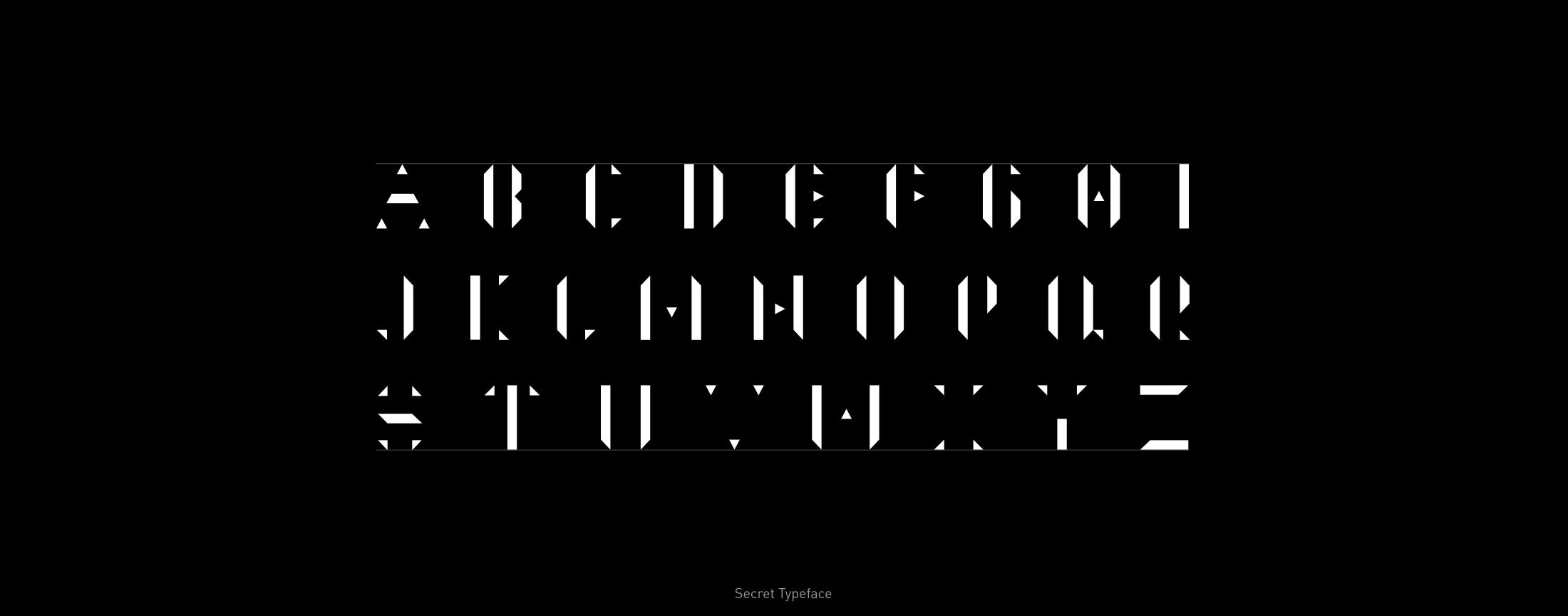 Typeface secret abc styled